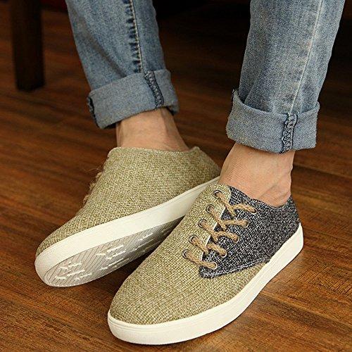 sale retailer d32af e8c80 ... Boot Schuhe Müßiggänger Frühling Sommer japanisch Stil Beiläufig Herren  Mode Leinen Espadrilles Schwarz ...