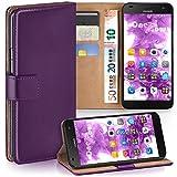 moex Huawei G7 | Hülle Lila mit Karten-Fach 360° Book Klapp-Hülle Handytasche Kunst-Leder Handyhülle für Huawei Ascend G7 Case Flip Cover Schutzhülle Tasche
