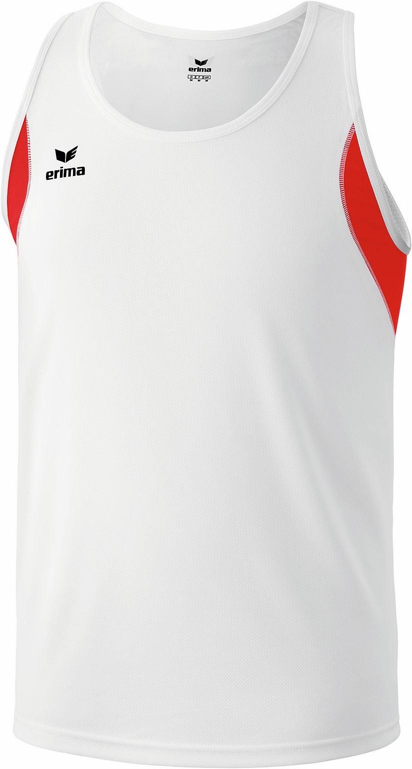 Erima - Canottiera junior da running, Bianco (bianco/rosso), 164