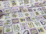 Französischer Lavendel Print Baumwolle Stoff Blumenmuster