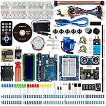 Smraza Ultimate UNO Project Starter Kit with Stepper Motor, Servo Motor, UNO R3 Board and Ultrasonic Sensor for Arduino UNO R3 Mega2560 NANO(26 Projects)