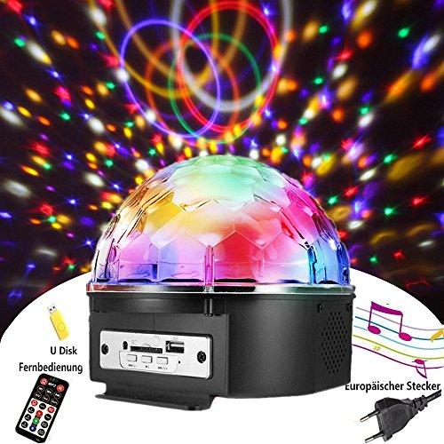 Discokugel,SOLMORE LED Discokugel Kinder Partylicht Disco Lichteffekte mit Fernbedienung Discolicht Projektor Beleuchtung für Party Wohnzimmer Kinder Spielzeug Feier Karaoke Geburtstag