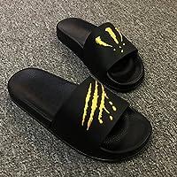 fankou Summer Men Slippers Trend Inside and Outside of The Home Bathroom Non-Slip Cool Slippers Summer,40, Black Gold