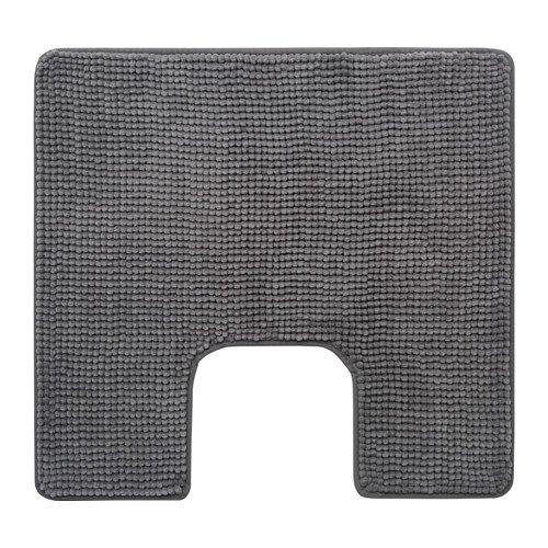 IKEA Toilettenmatte TOFTBO Flauschiger WC-Vorleger - saugstarke Mikrofaser - 55x60 cm - maschinenwaschbar - div. Farben (grau)