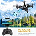 FPV Mini Drone With Camera 720P FPV WIFI Foldable RC Quadcopter Drone,Portable Mini Folding Drone Aircraft 2.4G 6Axis, Headless Mode, Voice Control, Fly Steady Drone Gift for Kids Beginners