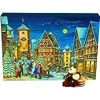 Hallingers Adventskalender Pralinenkalender Rothenburg | Advents-Karton | 300g