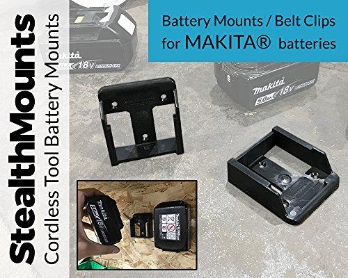 Stealth Mounts Batteriehalter für Makita 8 V LXT Li-Ion Batterien-Stealth Mounts Aufbewahrung, Akku-Clip, Gürtelclip, Batterie-Halterung