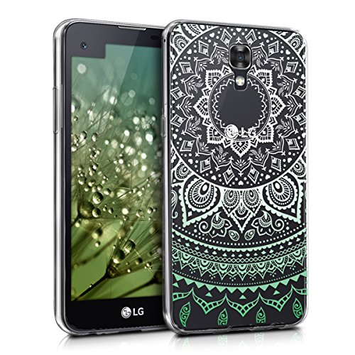 kwmobile LG X Screen Hülle - Handyhülle für LG X Screen - Handy Case in Mintgrün Weiß Transparent