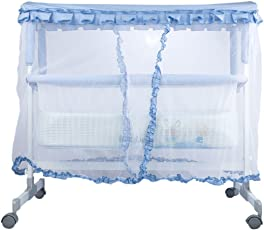 GoodLuck Baybee Infants Stroller Cradle Bed Crib with Swing and Mosquito Net, Up To 18 Months (Blue)