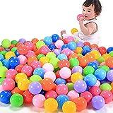 Lamdoo 100 Stück Bunte lustige Bälle aus weichem Kunststoff für Babys und Kinder