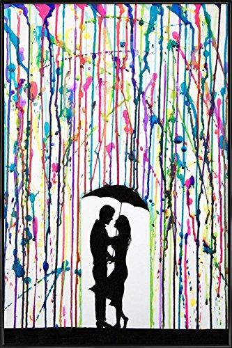 """JUNIQE® Bild mit Rahmen 40x60cm Paare Menschen - Design """"Precipice"""" (Format: Hoch) - Wandbilder, Gerahmte Bilder & Gerahmte Poster von unabhängigen Künstlern - Romantische Kunst, Liebe & Love - entworfen von Marc Allante"""