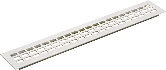 Lüftungsgitter Länge 1000 mm, Breite 60 mm, Aluminium weiß beschichtet