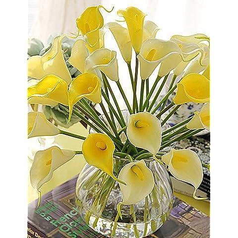 flores artificiales, Seda Lirios Flores Artificiales