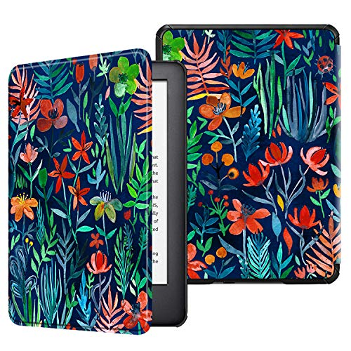Fintie Hülle kompatibel für Kindle (10. Generation 2019 Modell) - Die dünnste & leichteste Schutzhülle Tasche mit Auto Sleep/Wake Funktion, Dschungelnacht