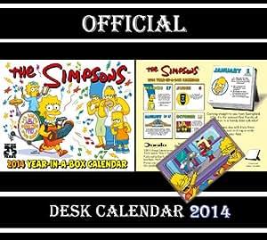 THE SIMPSONS OFFICIAL DESK BLOCK CALENDAR 2014 + SIMPSONS FRIDGE MAGNET