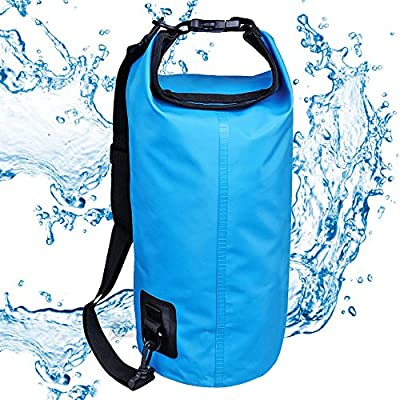 Hotrose 10L Waterproof Dry Bag for Outdoor Sack Canoe Canoeing Kayak Kayaking Camping Boat Clothing Storage ?Blue? from Hotrose