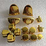 Zhhlaixing Gold Plating PS4 Game Handle L2 R2 Full Set Button fur PS4 Controller -
