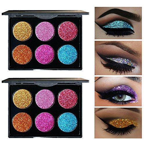 hkfv excelente único especial multicolor sombra de ojos Set para fiesta Halloween Shimmer Glitter Powder Sombra de Ojos Paleta Mate Sombra De Ojos Cosméticos Maquillaje encantador atractivo, Set A, 10cm*7.8cm*2.1cm