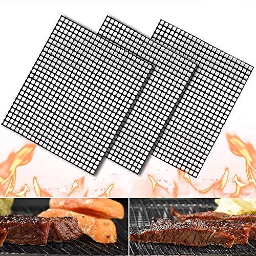 , Teflon-Antihaft-Gittermatte, ungiftig und geschmacksneutral, hitzebeständig bei hohen Temperaturen, 40 * 33 cm, 3 Stück ()