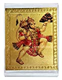 #5: ManeKo Hindu God Idol Hanuman with Pahad Photo Temple Frame for Car Dashboard (Model - D)