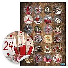 24 Adventskalenderzahlen 1...