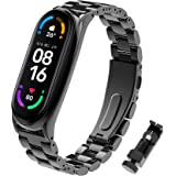 BDIG Mi Band 5 Band Mi Band 4 Bandjes Armband Vervanging, RVS Metalen Polsband Polsband Horlogeband Accessoires voor Xiaomi M