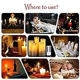 LED Kerzen,Flammenlose Kerzen 250 Stunden Dekorations-Kerzen-Säulen im 5er Set.Realistisch flackernde LED-Flammen 10-Tasten Fernbedienung mit 24 Stunden Timer-Funktion (5 * 1, Ivory) Test