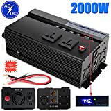 2000W Car Truck Power Inverter USB Ports Outlets Charger Digital Display for Cellphones