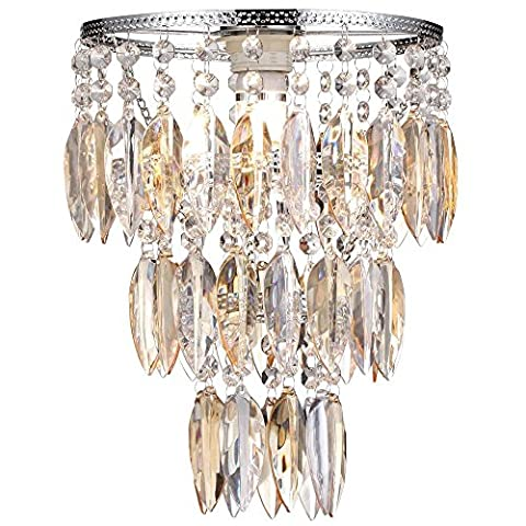 Easy Fit Nikki Champagne Lamp Shade for Ceiling Fitting Modern LED Chandelier Decoration
