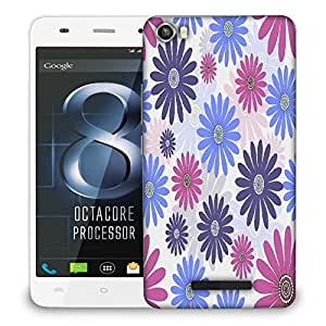 Snoogg seamless floral pattern abstract background Designer Protective Back Case Cover For LAVA IRIS X8