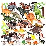 Riva776Yale 30 Stück Dinosaurier-Spielzeug,Mini Dinosaur Set,Dinosaurier Simulation Modell Spielzeug Kinder Früherziehung Erkenntnis Playset