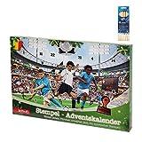 OLShop AG Adventskalender für Kinder mit Stempeln Fußball inkl. 1 Pack Jumbo Buntstifte inkl. Stempelkissen und Stempelvorlage, Kinderkalender, Stempelkalender