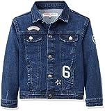 RED WAGON Jungen Jacke Denim Jacket with Badges, Blau (Multi), 104 (Herstellergröße: 4 Jahre)