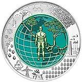 Power Coin ANTHROPOCENE Anthropozän Niob Bimetallisch Silber Münze 25? Euro Austria 2018