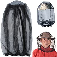Mosquito Head Net, Mesh Protective Cover Mask Face Anti-moustique Bee Bug Insect Fly Mask Hat For Beekeeping Apiculteur Pêche à l'extérieur, IHUIXINHE Insect Repellent Netting