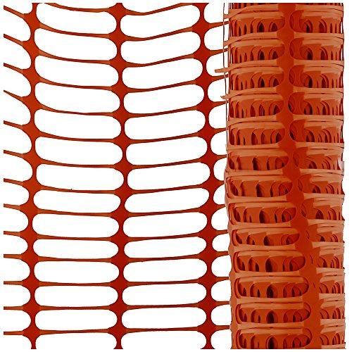 Fangzaun, 7,5 kg Absperrnetz, Maschenzaun, Bauzaun auf Rolle Kunststoff 50 Meter, extrem Reissfest, 150 gr qm