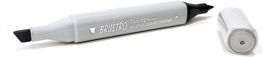 Brustro Twin Tip Alcohol Based Marker Grey (Colorless Blender)