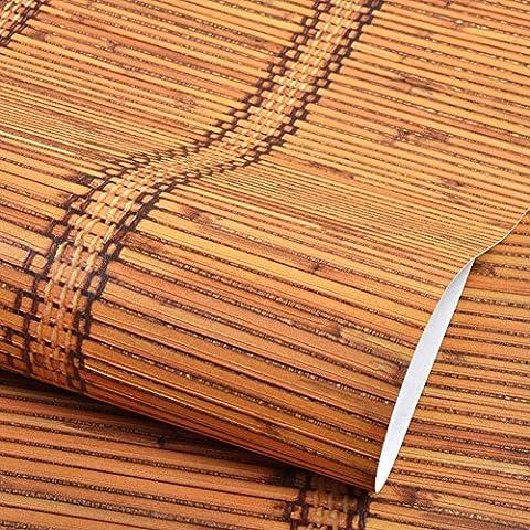 Papel pintado de bambú de bambú de imitación China moderna/ estilo chino japonés papel pintado de paja/ Den restaurante pared papel pintado-B