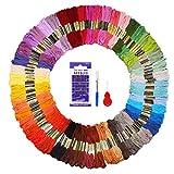 Fuyit Stickgarn Embroidery Threads 144 Docken Sticktwist Nähgarne Stickerei Basteln Crafts Floss Set 8m 6-Fädig Bunt Multicolor für Kreuzstich Basteln Freundschaftsbänder