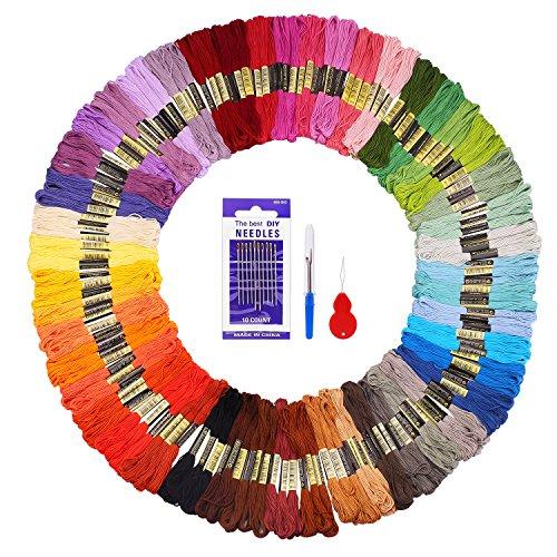 Matassine punto croce 144 fuyit 48 colori fili ricamo punto croce morbidi cotone floss cucirini dmc