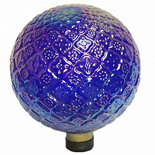 ECHO Valley e-v 25,4cm blau transparent geprägt Gazing Globe -