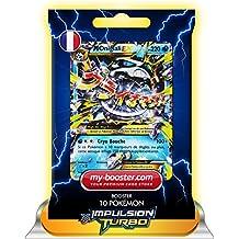Pokémon - Paquete de 10 cartas de expansión TURBO-Impulso de Glalie EX 35/162 (220 HP, XY08) [texto en francés]