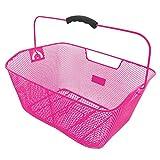 M-Wave BA-RM Hochwertiger Drahtkorb, Verschiedene Farben, Pink, 41x31x16 cm