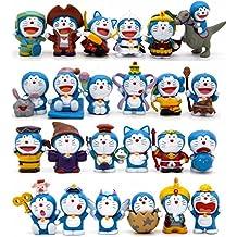 Doraemon lote de 24 figuras disfraces - Tamaño 2,5 - 4 cm Nobita
