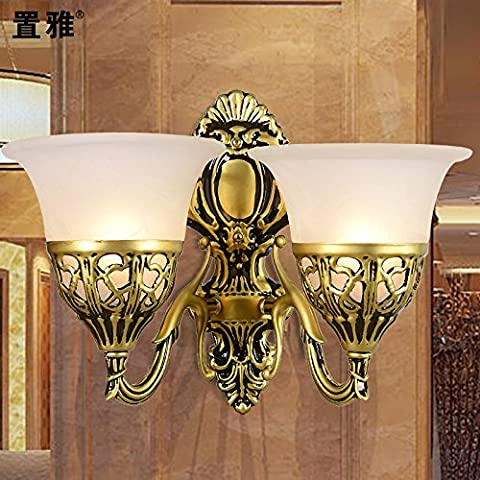 TYDXSD Lampes de style européen jardin minimaliste miroir mural lampe