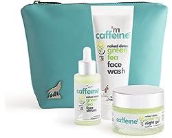 mCaffeine Summer Friendly Green Tea Breakout Care Kit (AM & PM)