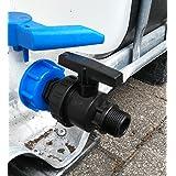 cms6013594a Válvula de salida con rosca exterior de plástico–Válvula de bola IBC de contenedor de accesorios de agua de lluvia tanque de doble adaptador de bidón