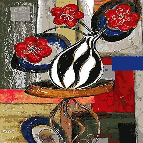 zlhcich Digitale malerei palast Blume Landschaft Wohnzimmer Dekoration malerei System Q004-27 rahmenlose 40 cm * 50 cm - 27 Inkjet-print