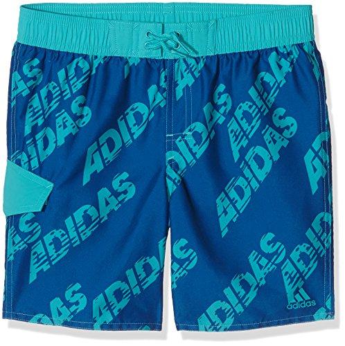Adidas Y Lin AOP SH KB - Bañador para niño, Color Azul/Turquesa, Talla 128