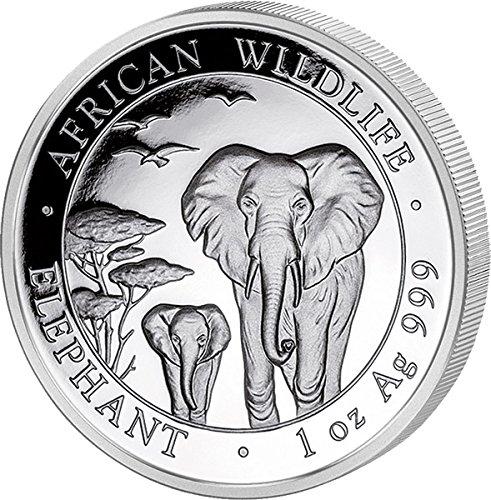 1 Unze Silber Somalia Elefant 2015 prägefrisch (Elefant Jährliche)